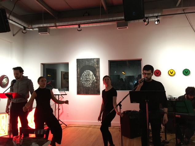 Connor Williams, Sylvie Moquin, Chantal Wall and Constantine x. Anastasakis reading form Humanoid: A LOVE SUPREME